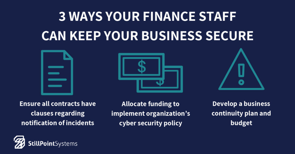 3 Ways Your Finance Staff Can Keep Your Business Secure