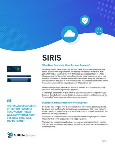 Datto Siris Brochure
