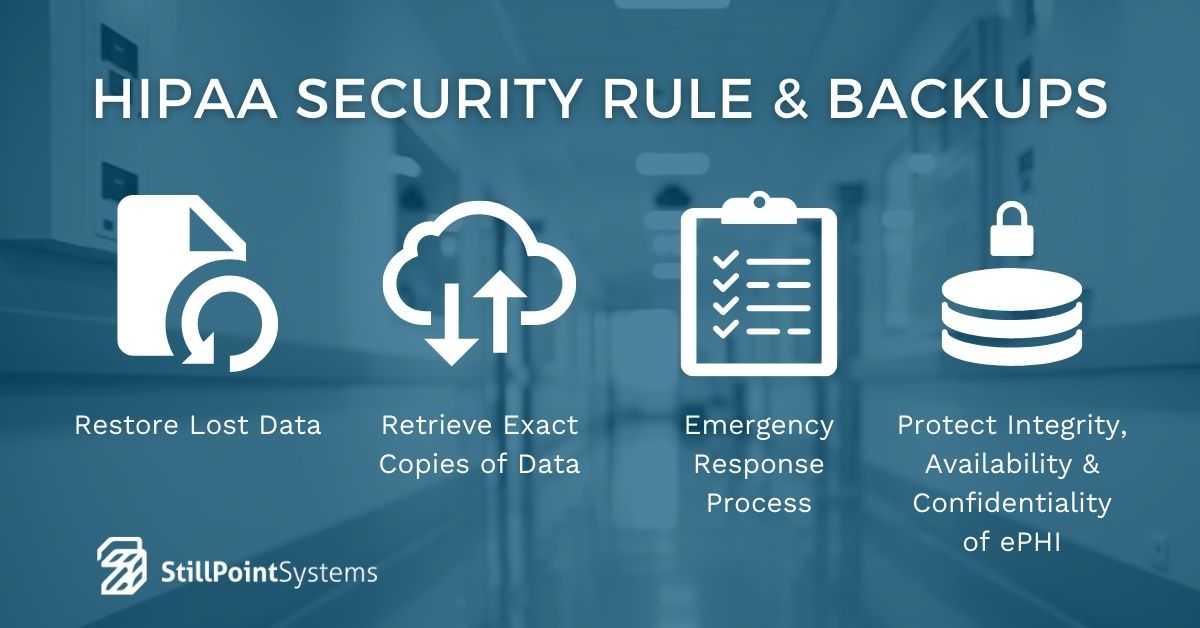HIPAA security rule and backups