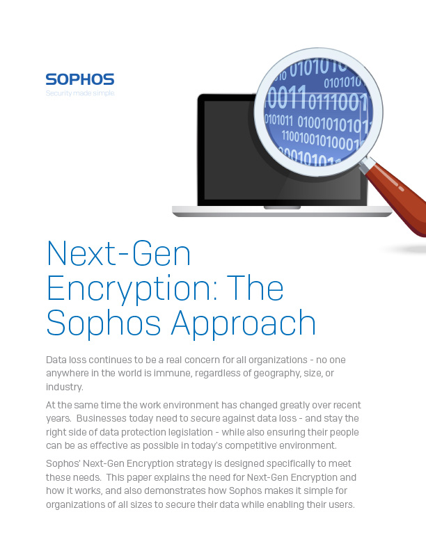 Next-Gen Encryption The Sophos Approach cover