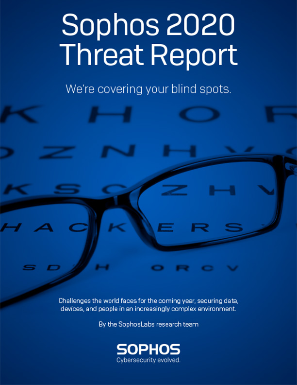 Sophos 2020 Threat Report Cover