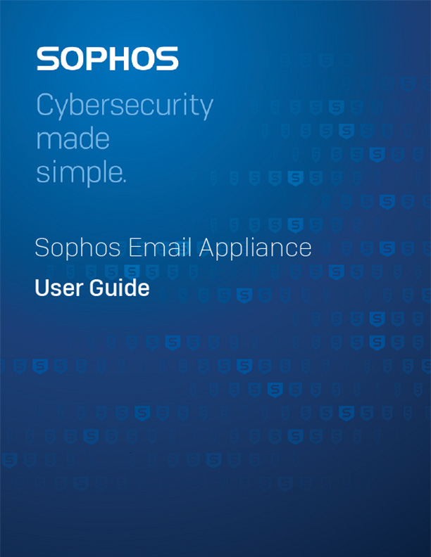 Sophos Email Appliance User Guide Cover