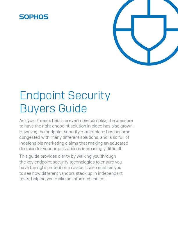 Sophos Endpoint Buyers Guide Cover