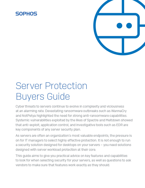 Sophos Server Protection Buyers Guide Cover