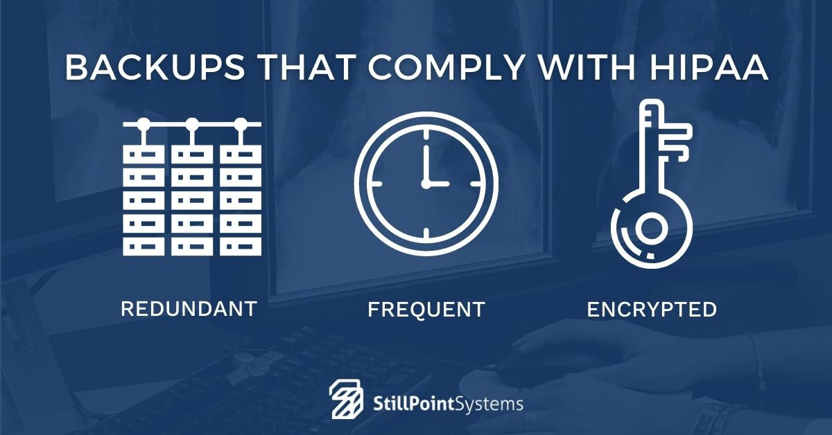 Backups that comply with HIPAA Security Rule